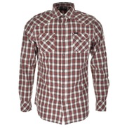 Diesel S Zule Check Shirt Red