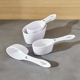 Crate & Barrel Magnetic White Measuring Cups, Set of 4