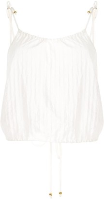 SUBOO Cruz striped drawstring camisole