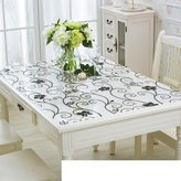 JIN Tablecloths PVC Table Cloth/Waterproof Plastic Table at Of Soft Glass/Transparent Thickened Coffee Table Pad/atte Cloth Crystal Plate