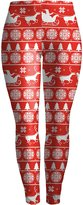 Mooncolour Womens Christmas Printing Stretch Skinny Leggings