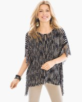 Chico's Nita Tape Yarn Poncho