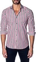 Jared Lang Colorblock Stripe Shirt