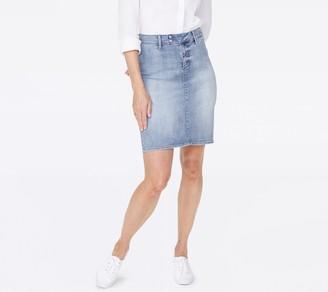 NYDJ Denim Skirt with Double Snap Waistband