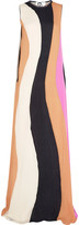 Roksanda Pemba paneled silk-cloqué maxi dress