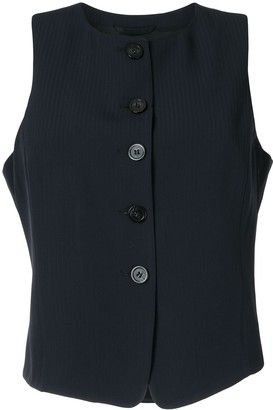 Emporio Armani Striped Tailored Waistcoat