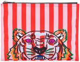 Kenzo striped Tiger clutch bag