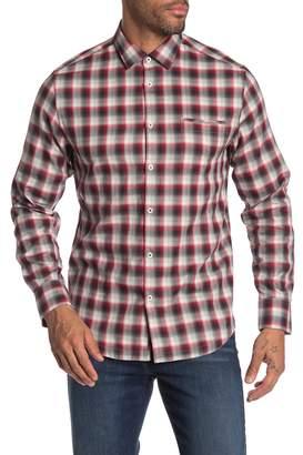 Good Man Brand Long Sleeve Regular Fit Plaid Button Front Shirt