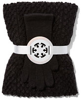 New York & Co. 2-Piece Pom-Pom Scarf & Gloves Set