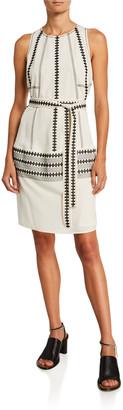 Derek Lam Embroidered Georgette Dress