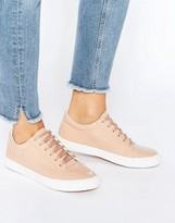 Glamorous Dusty Pink Patent Sneakers