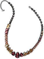 ABS by Allen Schwartz Hematite-Tone Multi-Crystal Collar Necklace