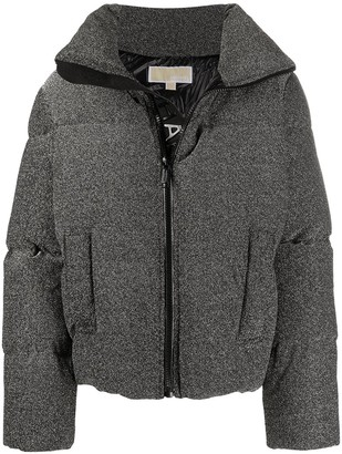 MICHAEL Michael Kors Metallic Cropped Puffer Jacket