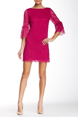 Cynthia Steffe 3/4 Sleeve Lace Shift Dress