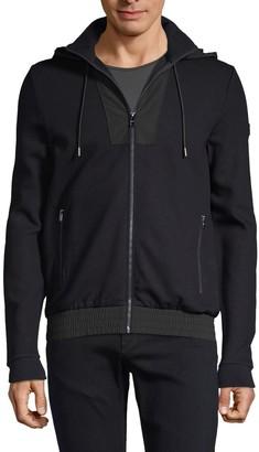 HUGO Hooded Cotton-Blend Jacket