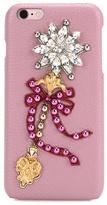 Dolce & Gabbana Embellished Leather Iphone 6 Plus Case