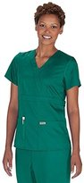 Barco Uniforms Grey's Anatomy 4153 3 Pocket Mock Wrap (, M)