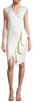 Rachel Roy Gathered Asymmetrical Zip Sheath Dress