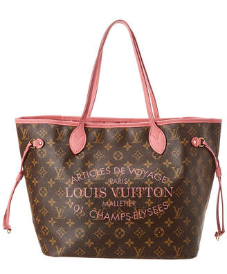 Louis Vuitton Pink Ikat Flower Vernis Leather Neverfull Mm
