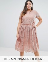 Truly You Cap Sleeve Double Layer Lace Dress