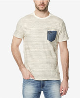 Buffalo David Bitton Men's Striped Denim-Pocket T-Shirt
