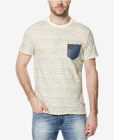 Buffalo David Bitton Men's Striped Denim-Pocket T-Shirt