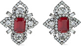 Thumbnail for your product : Elizabeth Cole Annabeth Hematite-plated Swarovski Crystal Earrings