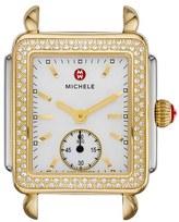 Michele 'Deco 16 Diamond' Two-Tone Watch Case, 29mm x 31mm