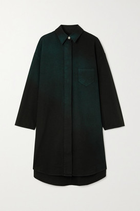 MM6 MAISON MARGIELA Oversized Ombre Denim Shirt - Black