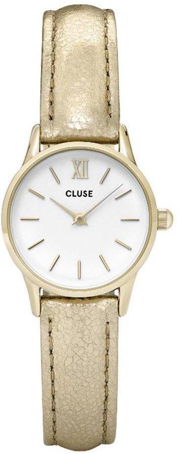 Cluse Women's La Vedette 24mm Leather Band Metal Case Quartz Watch Cl50019