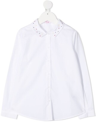 Il Gufo Polka Dot Cotton Shirt