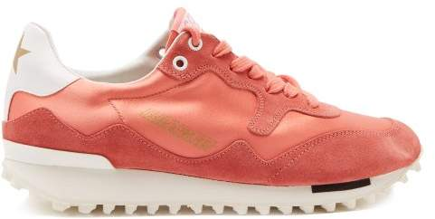 Golden Goose Starland Suede Raised Sole Low Top Trainers - Womens - Pink