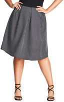 City Chic Plus Size Women's Flirty Stripe Full Skirt