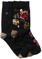 Tommy Bahama Relax Crab Crew Socks - Pack of 4