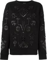 Marcelo Burlon County of Milan 'Triangular' sweatshirt - women - glass/PVC/Polyester/Cotton - S