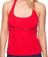 Nautica Women's Point Of Sail Removable Soft Cup Tankini with Gromet Detail