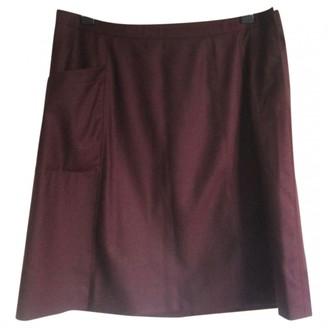 A.P.C. Burgundy Wool Skirt for Women