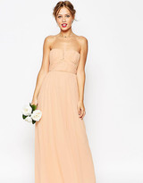 Asos Wedding Ruched Bodice Bandeau Maxi Dress