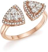 Bloomingdale's Diamond Geometric Open Cluster Ring in 14K Rose Gold, .65 ct. t.w. - 100% Exclusive