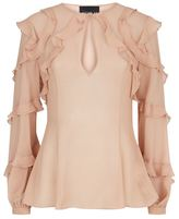 Nicholas Ruffle Detail Silk Blouse