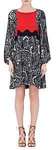 Chloé WOMEN'S FLORAL GAUZE SHIFT DRESS - NAVY SIZE 40 FR 00505050757060