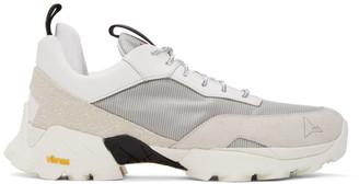 ROA Grey and White Lhakpa Sneakers