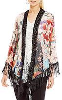 Paris Hues Fringe Kimono