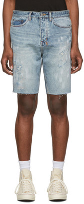 Ksubi Blue Denim Wolf Shorts
