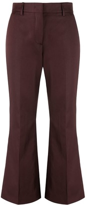 MSGM Cropped Flared Trousers