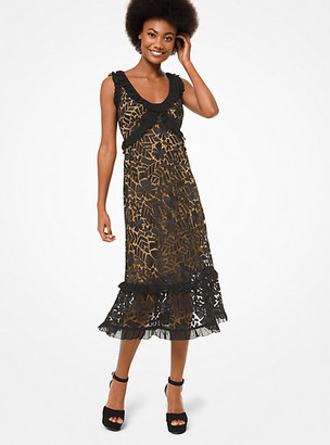 MICHAEL Michael Kors MK Floral Lace Dress - Black - Michael Kors