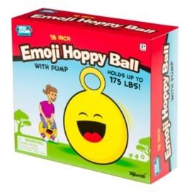 Toysmith 18In Emoji Hoppy Ball With Pump Assorted Styles