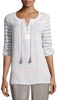 Nic+Zoe Ahoy Striped Knit Top, Plus Size