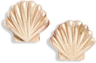 Set & Stones Sawyer Shell Stud Earrings