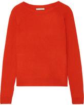 Vince Ribbed Cashmere Sweater - Papaya